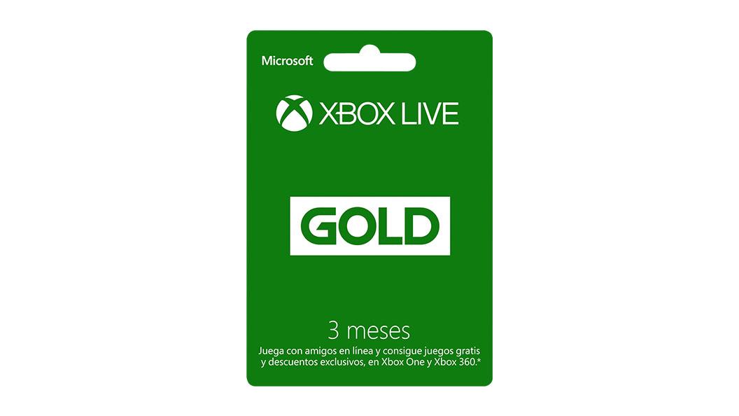 Tarjeta de 3meses de Xbox Live Gold