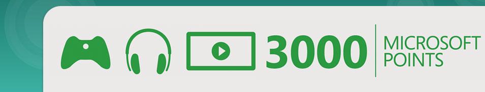 Xbox Live 3000 Microsoft Points