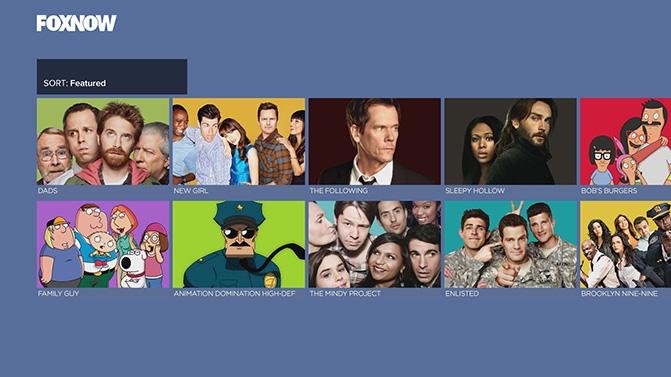 Fox Now on Xbox One Fox Now