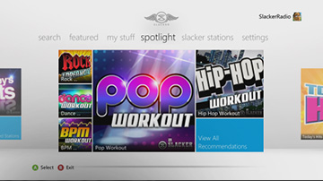 Slacker Radio on Xbox 360