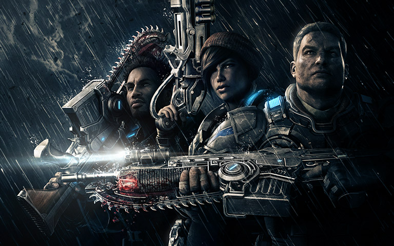 Gears of War 4 social media