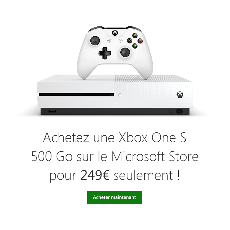 xbox one s 500go