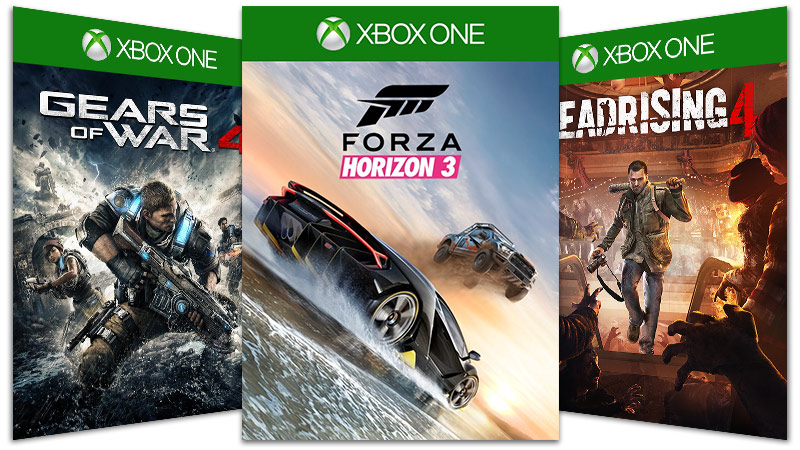 Gear of War 4 Forza Horizon 3 Dead Rising 4 boxshots