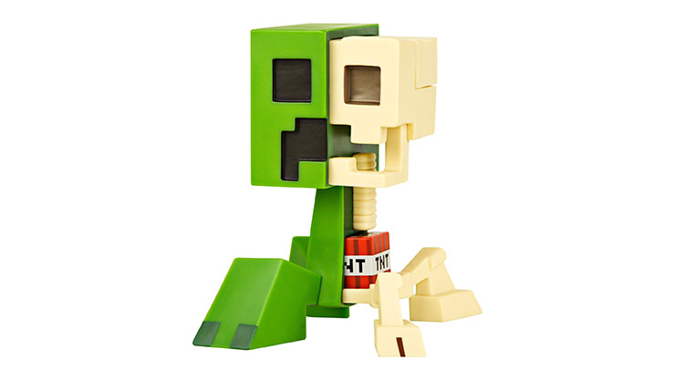 Minecraft Creeper Anatomy Vinyl Figure free with purchase of Minecraft Favorites Pack