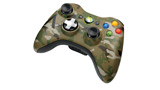 Xbox 360 Camouflage Wireless Controller right angle view