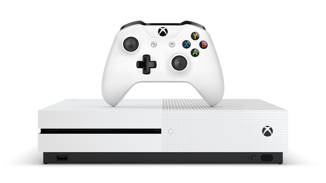 Xbox One S console and Wireless Controller