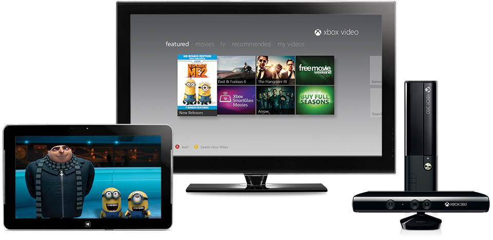 Xbox Video on TV, tablet, or PC