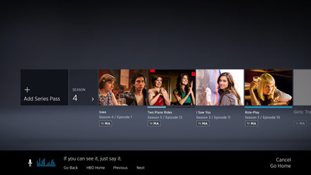 Use Kinect for HBO Go
