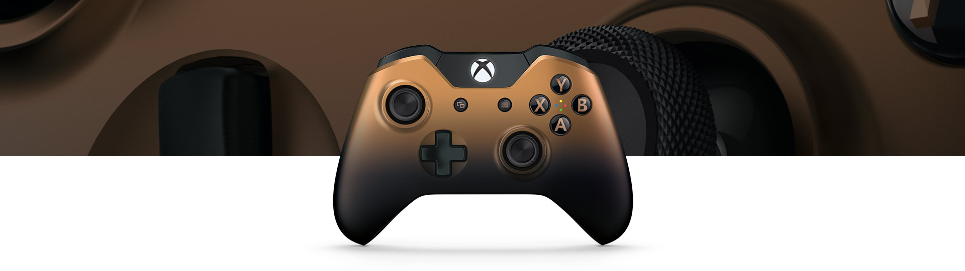 Langaton Xbox One Special Edition Copper Shadow -ohjain
