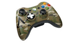 Xbox 360 Camouflage Wireless Controller left angle view