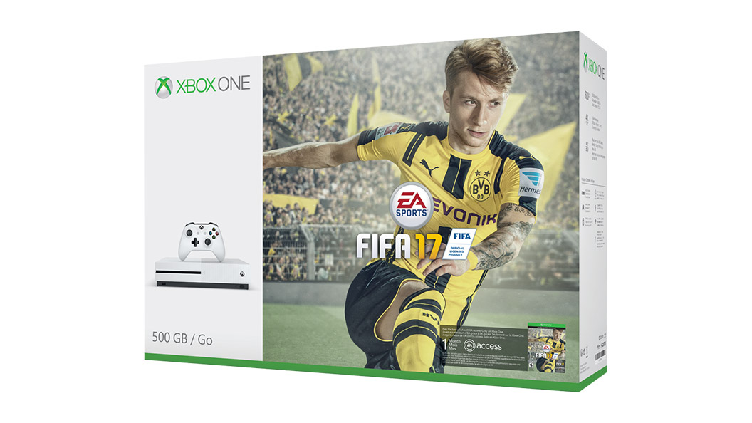 Boxshot of Xbox One S FIFA 17 Bundle