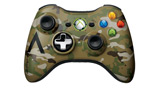 Xbox 360 Camouflage Wireless Controller top view