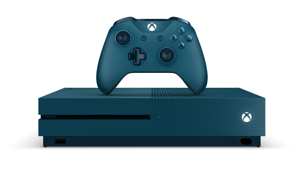 Pack de consola Xbox One S Deep Blue de edición limitada de 500 GB