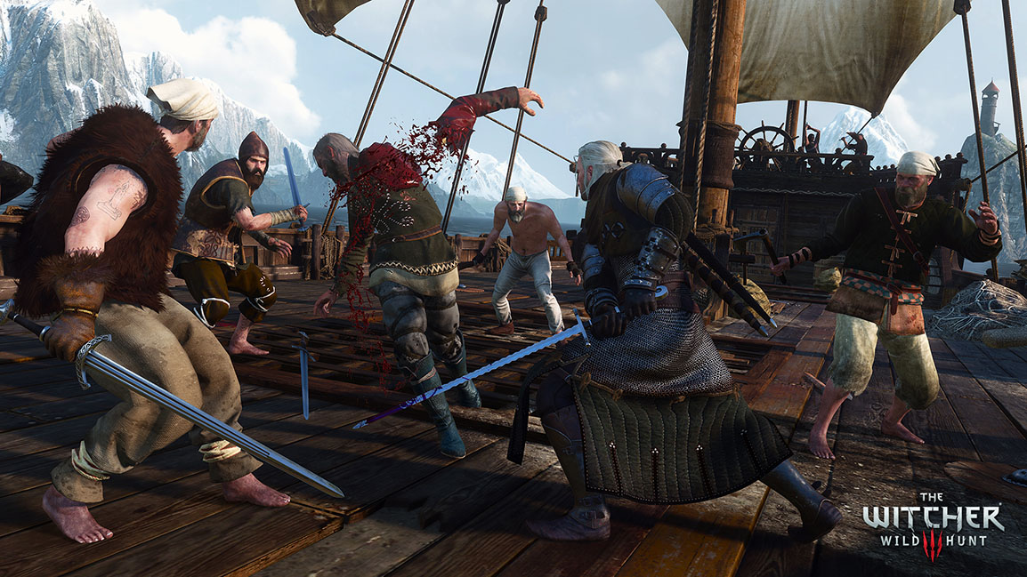 The Witcher 3: Wild Hunt, combat en mer