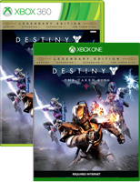 Destiny The Taken King on Xbox One and Xbox 360 box shots