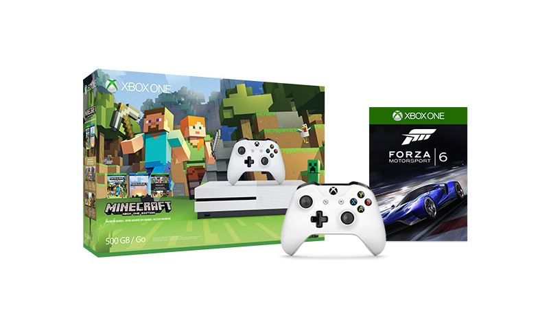 Buy Xbox One S Minecraft Bundle with an additional controller plus Forza Motorsport 6