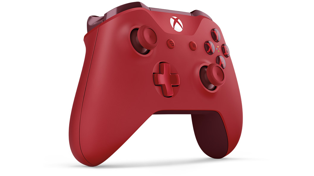 Right angle view of Red Controller