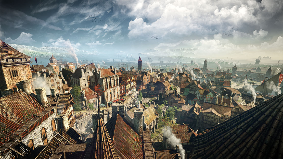 Paisaje urbano en The Witcher 3: Wild Hunt