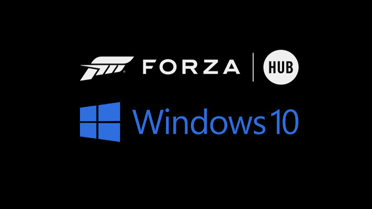 forza hub and windows 10 logo