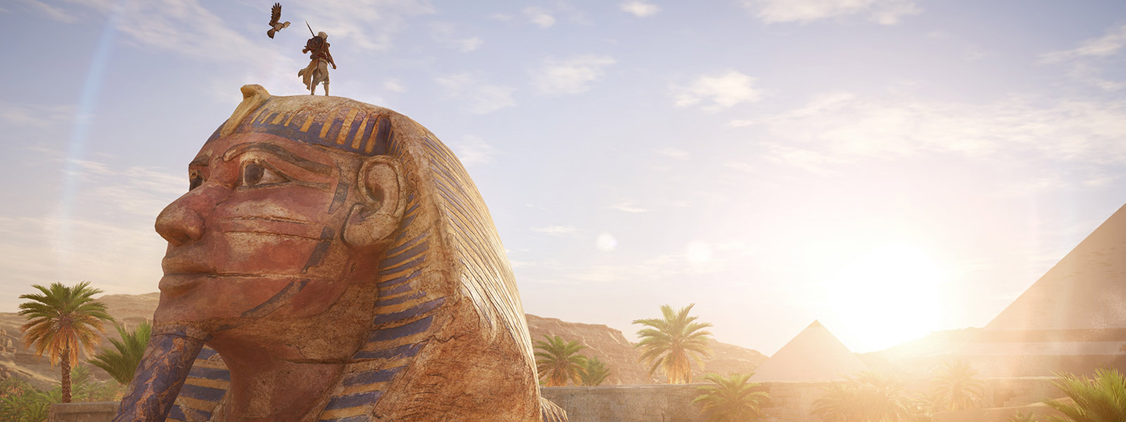 Bayek on a Sphinx
