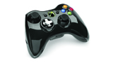 Xbox 360 Chrome Series Controller black angled view