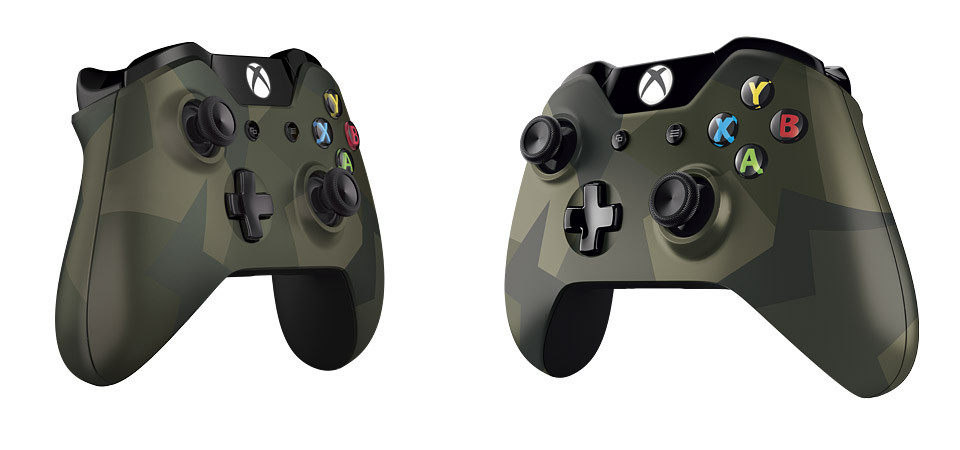 Xbox One Special Edition Armed Forces Wireless Controller hero