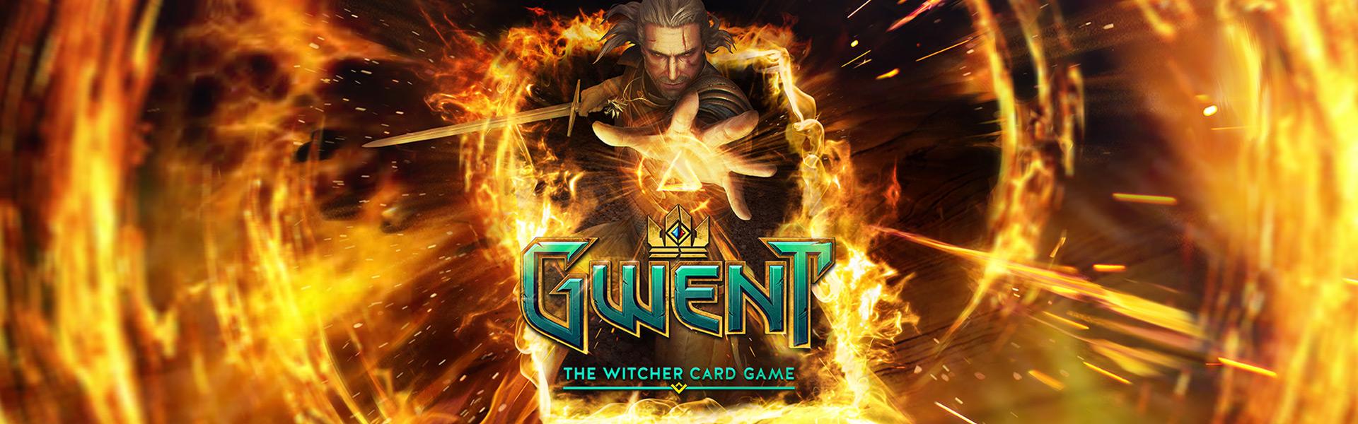 Geralt using a fire spell