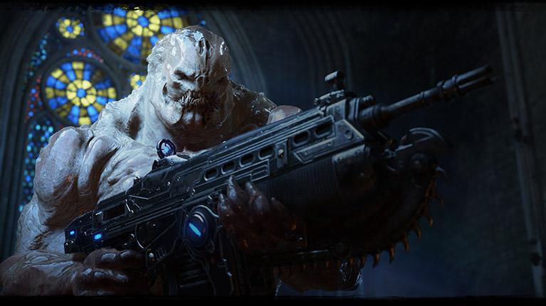 ライフルを持ったドローンの怪物