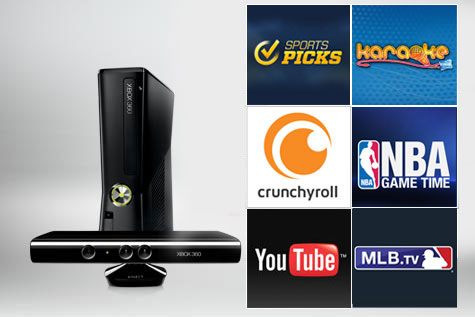 Sports Picks, Karaoke, Crunchyroll, NBA Game Time, Youtube, MLB.TV