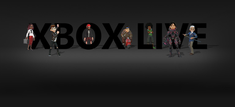 Xbox Live logo with avatars