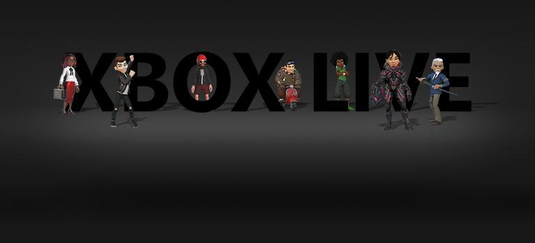 Logotipo do Xbox Live com avatares