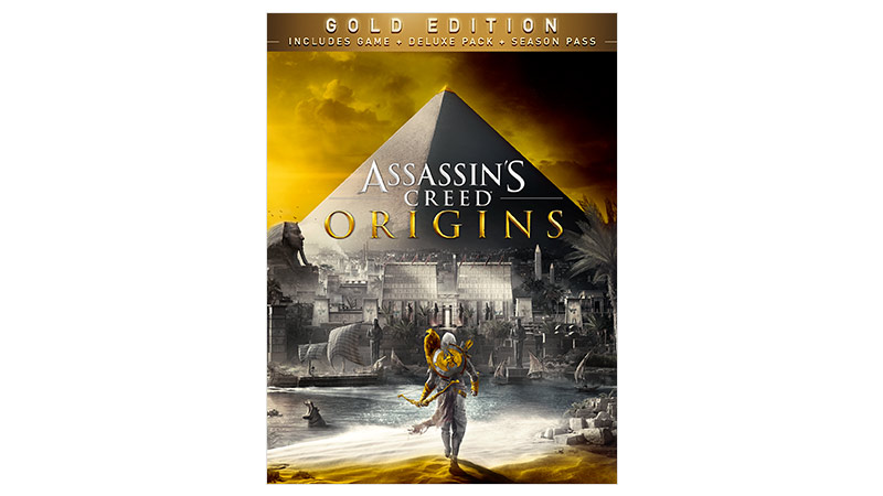 Imagem da caixa do Assassin's Creed® Origins Gold Edition