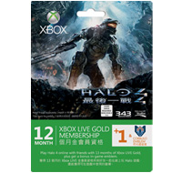 Halo: Reach 12 + 2 Month Xbox LIVE Card
