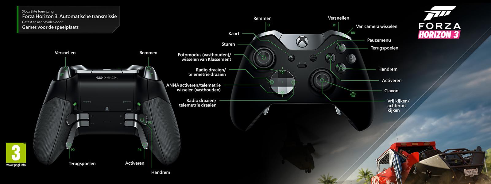 Forza Horizon 3 - Elite-mapping voor automatisch schakelen