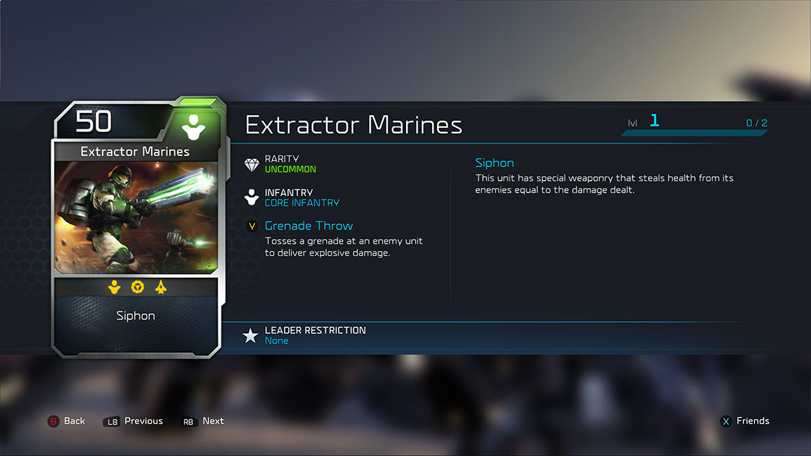 Extractor Marines card