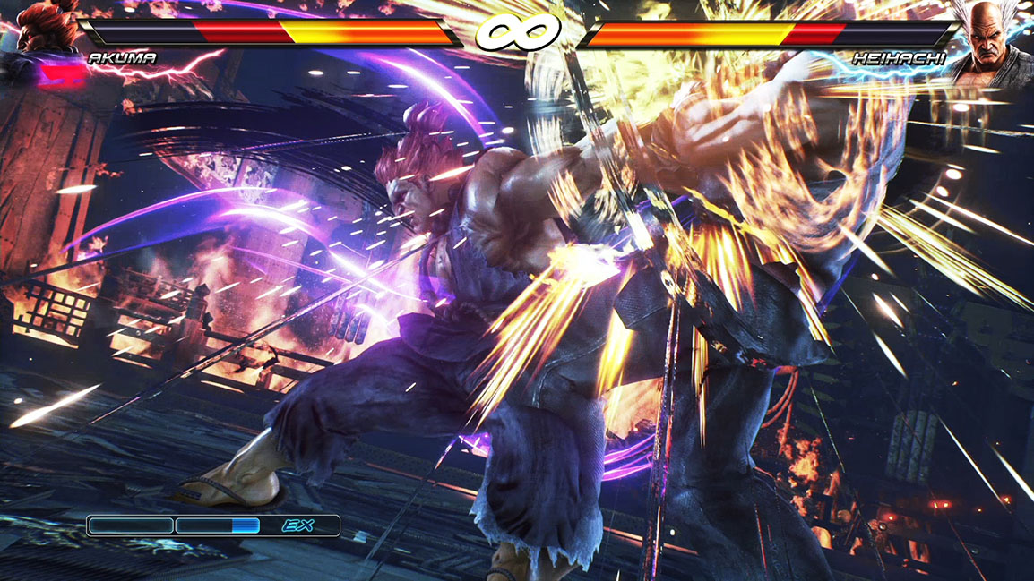 Akuma versus Heihachi