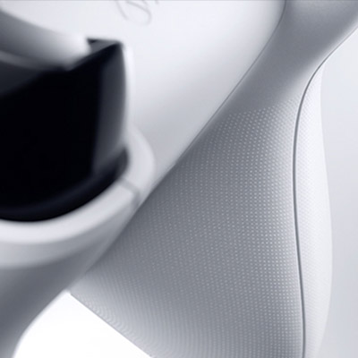 Close-up of Xbox One S Wireless Controller showing the textured grip