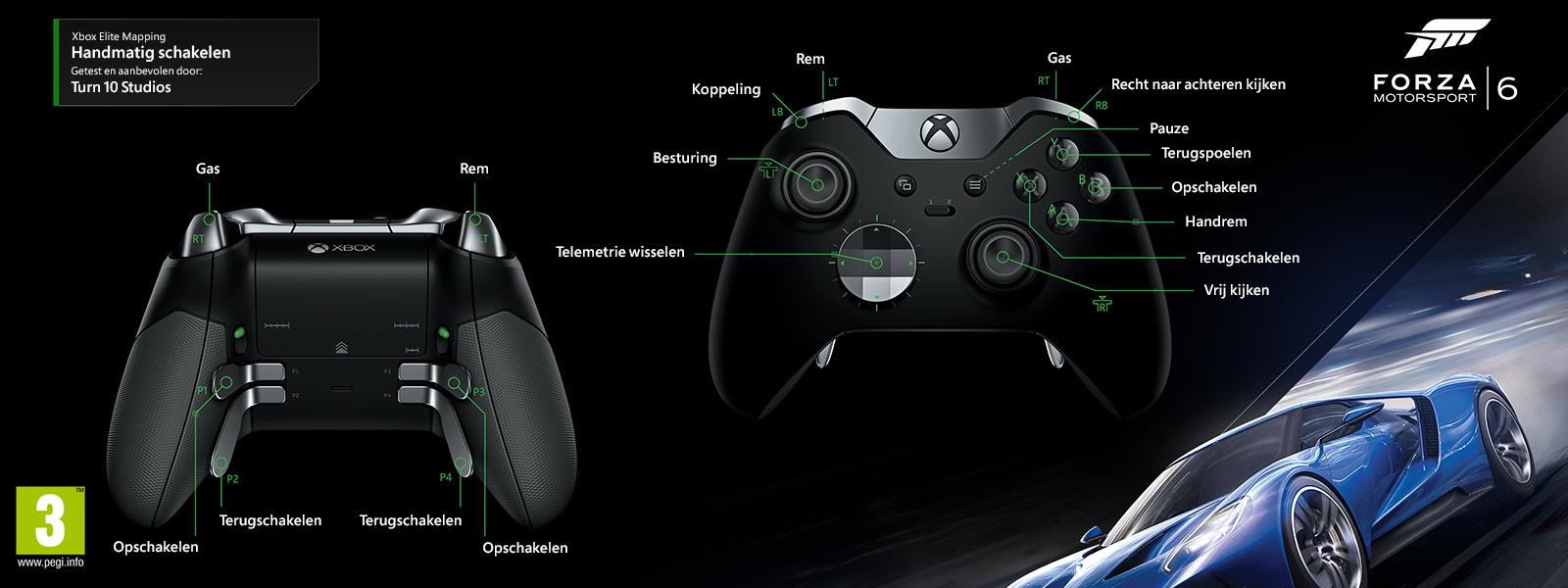 Forza Motorsport 6 - Elite-mapping voor handmatig schakelen