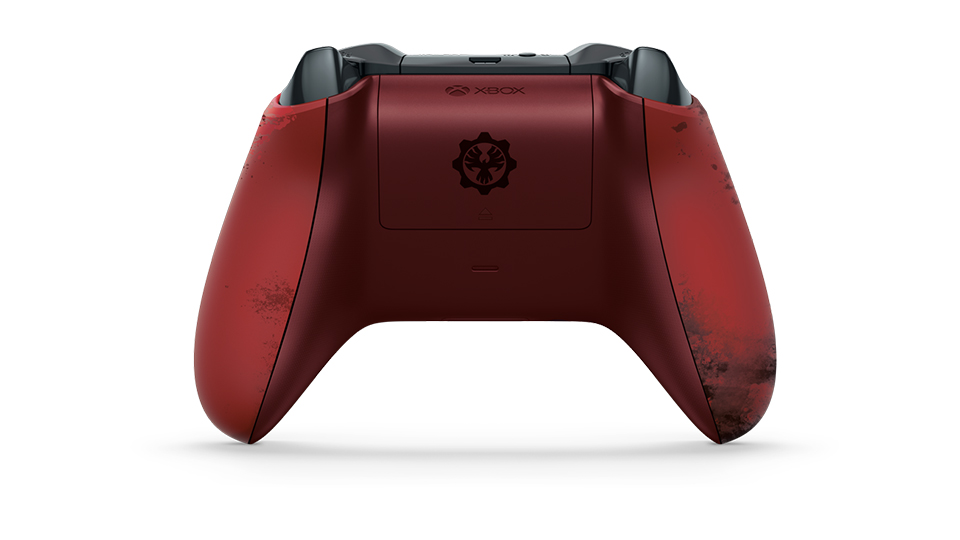 Backside of Crimson Omen Controller