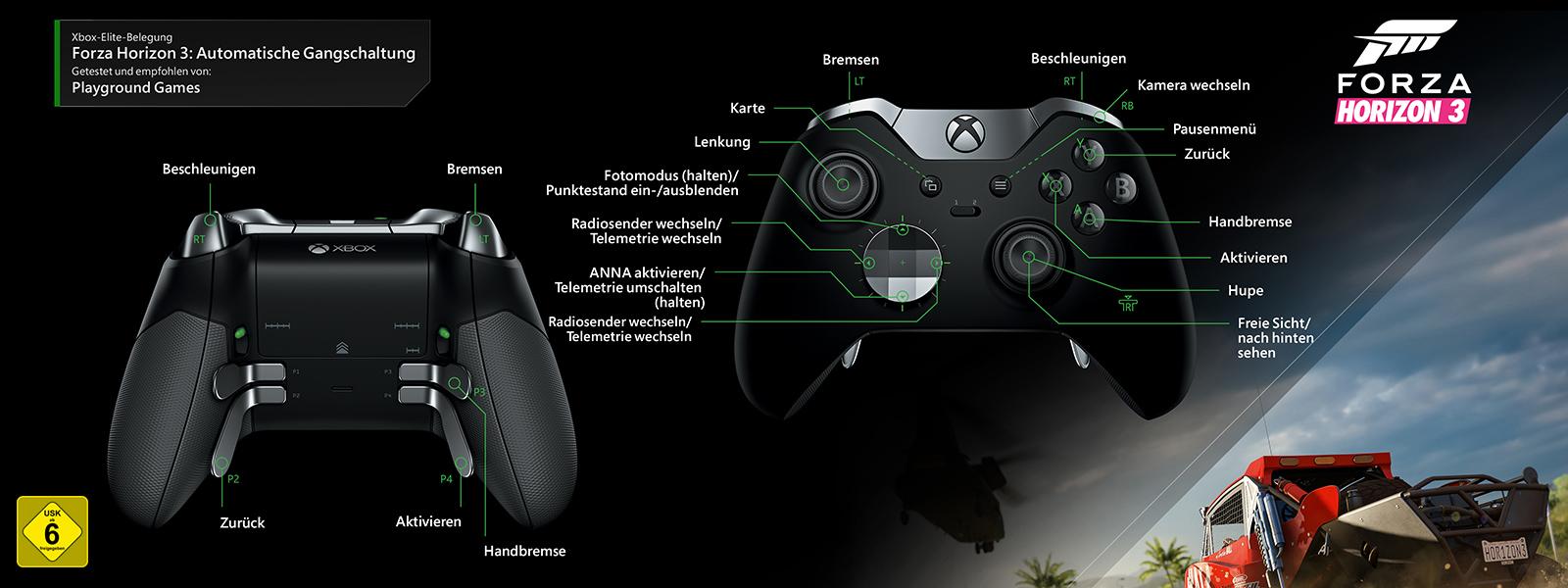Forza Horizon 3 – Elitezuordnung für automatische Gangschaltung