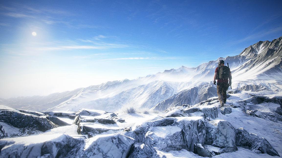 Un Ghost au sommet d'une montagne