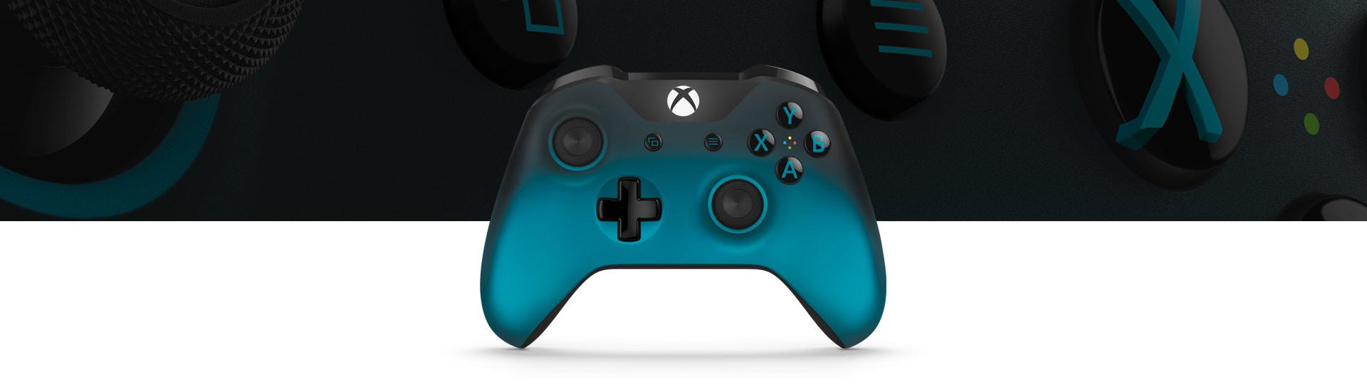 Bezdrátový ovladač pro Xbox ze speciální edice Ocean Shadow