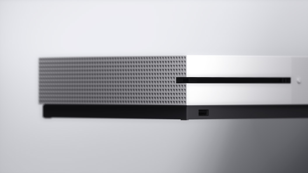 Angled view of Xbox One S
