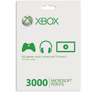 Xbox Live 3000 Microsoft Points