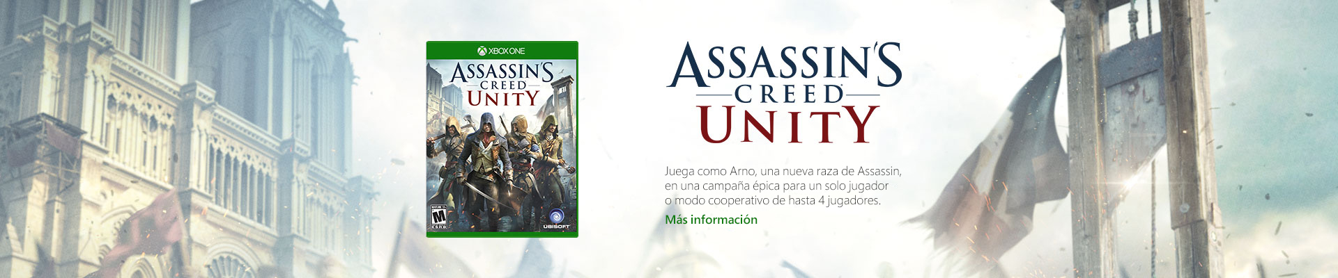 Xbox One Assassin's Creed Unity banner