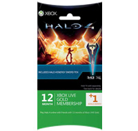 Halo 4 Xbox LIVE 12 + 1 Month + Energy Sword Pen Gold Subscription Card