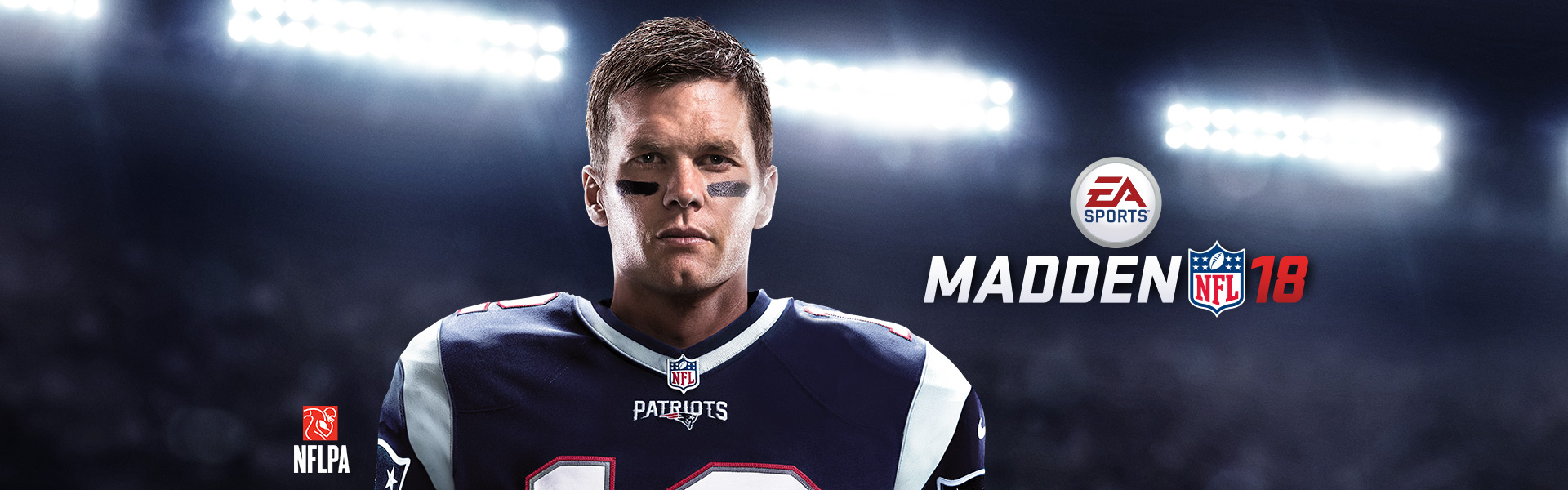 Tom Brady vestido no uniforme do Patriots
