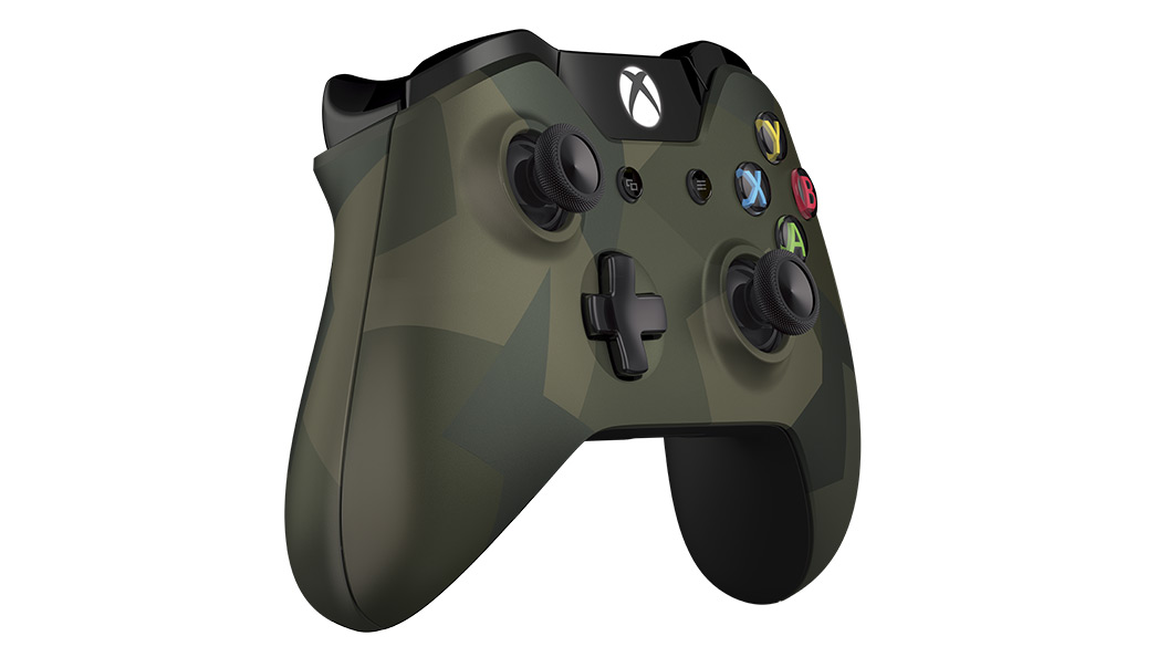 Right angled view of Armed Forces Special Edition Wireless Controller