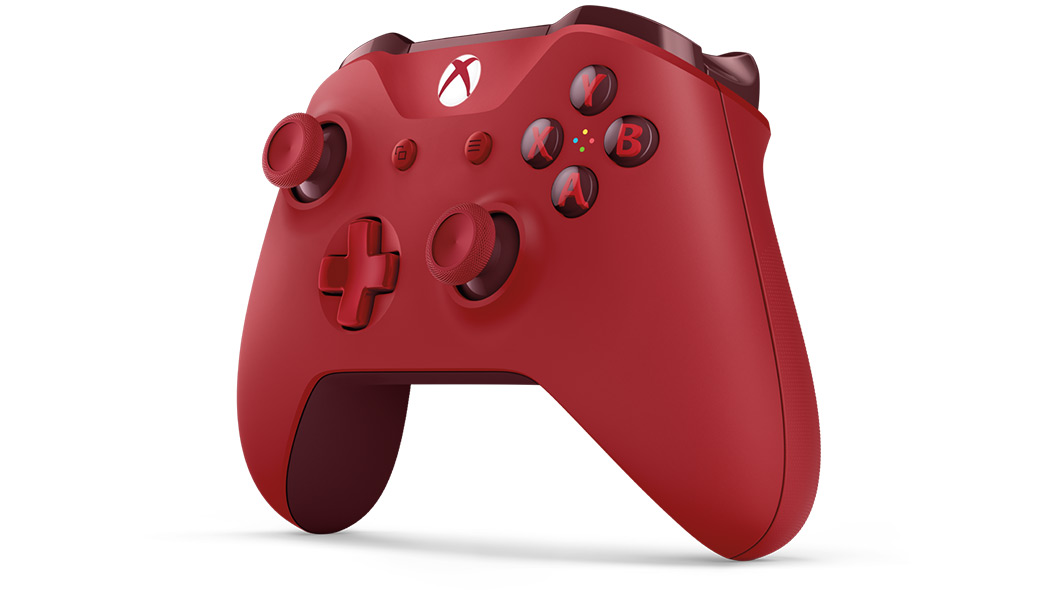 Left angle view of Red Controller