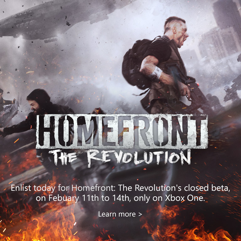 Homefront Revolution Beta on Xbox One
